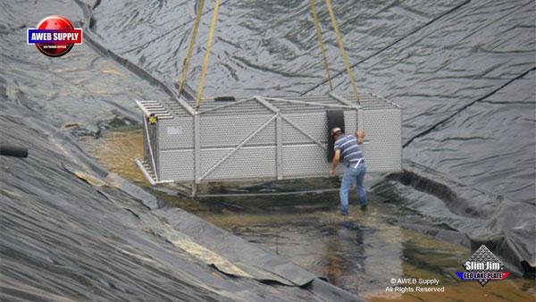 Man Made Lined Retention Pond Aweb Geo Supply